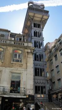 """Lissabon: De""""Elevador de Santa Gusta""""gebouwd door Eiffel"""