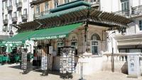 Lissabon: De kiosk op het Praça Restauradores