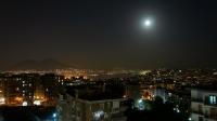 De golf van Napels bij maanlicht